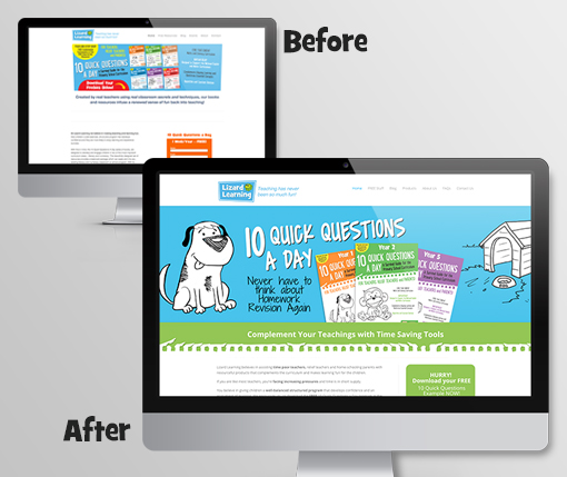 lizard-learning-home-page-before-&-after
