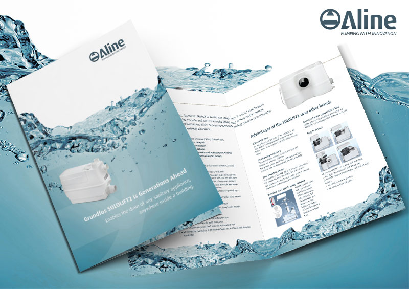 ALINE PUMPS BROCHURE DESIGN