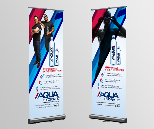 Aqua Hydrate Pull Up Banners